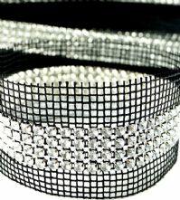 Crystal 4 Row Rhinestone Sew-in Banding